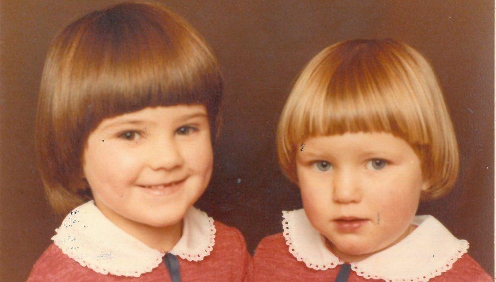 Jo and Kim Leadbeater at Millbridge School, 1978 Courtesy of Jo Cox's family