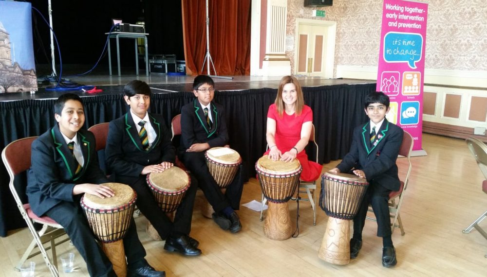 Jo Cox during a visit to Upper Batley High School, 2015 Courtesy of The Jo Cox Foundation One of the other things Jo loved most was visiting schools. She loved the energy of young people and they in turn loved hers. She left a lasting impression on many classrooms. Upper Batley High School's head teacher Sam Vickers, now sits on the board of The Jo Cox Foundation. The school has dedicated a room called the Jo Cox Conference Centre, were the local More in Common group often meet.