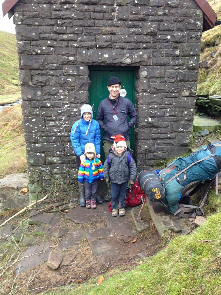 Jo Cox and family in the Black Mountains, Wales, 2016 Courtesy of Jo Cox's family Jo loved adventures and visiting bothies was high on that list. Bothies are often old shepherds' huts, left open for walkers to use free of charge. This is one of the smallest bothies in the country and this photograph was taken on the children's first bothy visit.