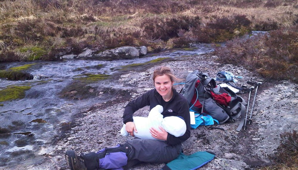 Jo Cox breastfeeding Cuillin Cox, 2011 Photo courtesy of Jo Cox's family Jo is pictured here halfway up a Scottish mountain a few months after her son Cuillin was born.